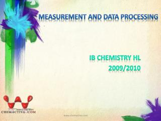 Measurement and data processing