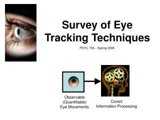 Survey of Eye Tracking Techniques