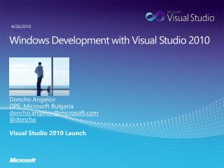 Windows Development with Visual Studio 2010