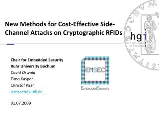 New Methods for Cost-Effective Side-Channel Attacks on Cryptographic RFIDs