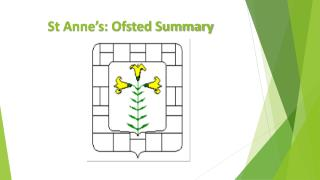 St Anne's: Ofsted Summary