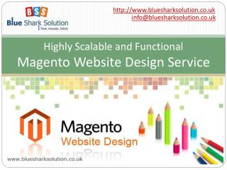 Highly scalable & functional Magento website design service