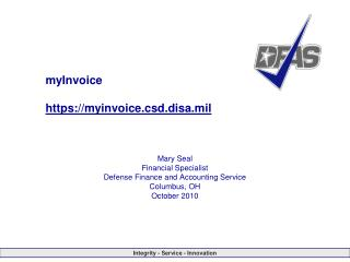 myInvoice https://myinvoice.csd.disa.mil