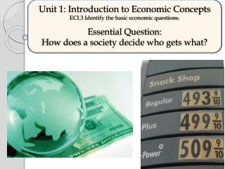 Unit 1: Introduction to Economic Concepts ECI.3 Identify the basic economic questions.