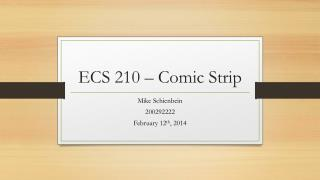 ECS 210 – Comic Strip