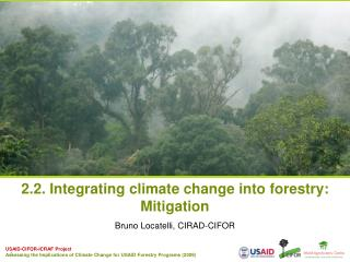 2.2. Integrating climate change into forestry:  Mitigation