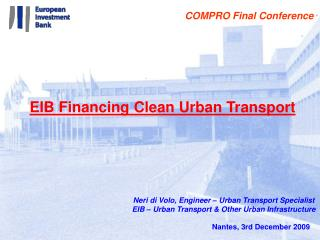 EIB Financing Clean Urban Transport