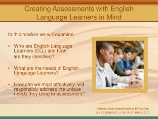 Creating Assessments with English Language Learners in Mind