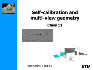 Self-calibration and  multi-view geometry   Class 11