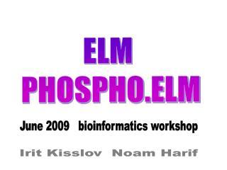 ELM PHOSPHO.ELM