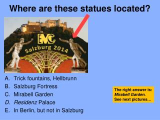 Where are these statues located ?