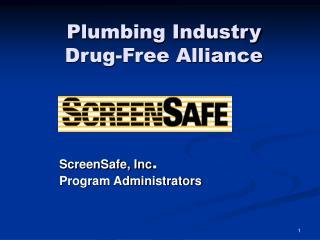 Plumbing Industry Drug-Free Alliance