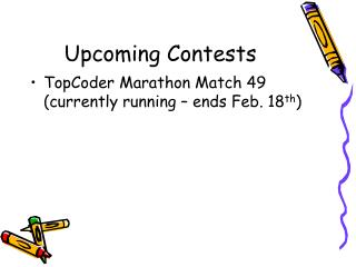 Upcoming Contests