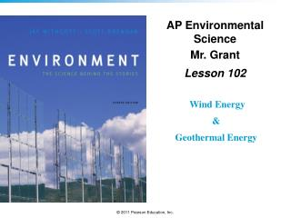 AP Environmental Science Mr. Grant Lesson  102