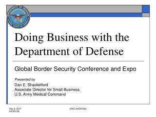 Doing Business with the Department of Defense