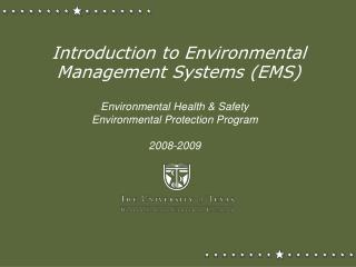 Introduction to Environmental Management Systems (EMS)