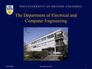 The Department of Electrical and Computer Engineering