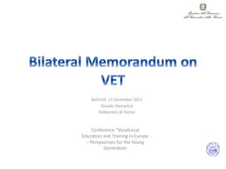 Bilateral  Memorandum on  VET
