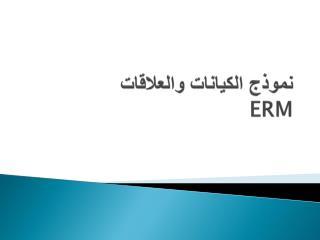 نموذج الكيانات والعلاقات  ERM