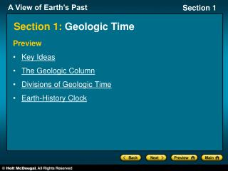 Section 1:  Geologic Time