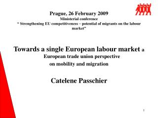 Towards a single European labour market  a European trade union perspective