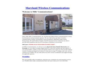 Maryland Wireless Communications