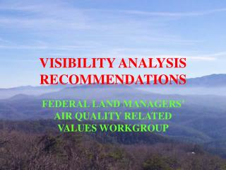 VISIBILITY ANALYSIS RECOMMENDATIONS