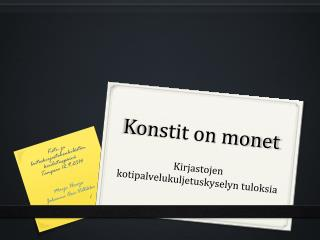 Konstit on monet
