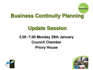 Business Continuity Planning Update Session