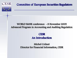 Committee of European Securities Regulators