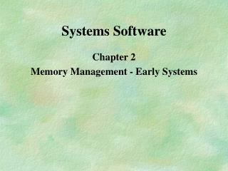 Systems Software