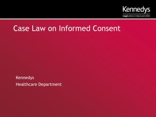 Case Law on Informed Consent