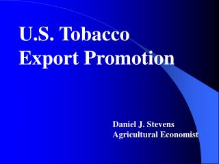 U.S. Tobacco Export Promotion