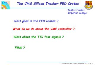 The CMS Silicon Tracker FED Crates