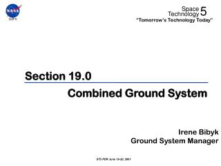Section 19.0 Combined Ground System