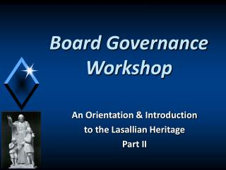 Board Governance Workshop