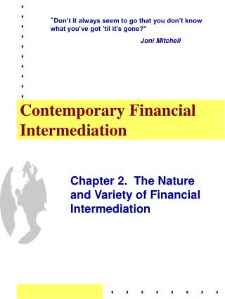 Contemporary Financial Intermediation