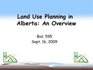 Land Use Planning in  Alberta: An Overview