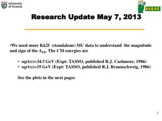 Research Update May 7, 2013