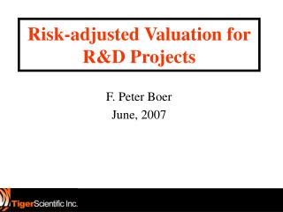 Risk-adjusted Valuation for R&D Projects