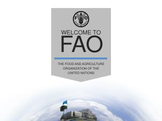 WELCOME TO  FAO The Food and Agriculture Organization of the  United Nations