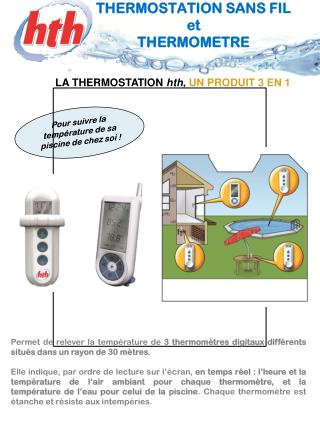 THERMOSTATION SANS FIL et  THERMOMETRE