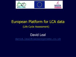 European Platform for LCA data Life Cycle Assessment