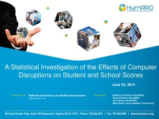 A Statistical Investigation of the Effects of Computer Disruptions on Student and School Scores