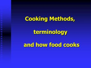 Cooking Methods,