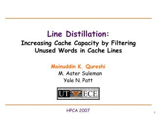 Line Distillation: Increasing Cache Capacity by Filtering Unused Words in Cache Lines