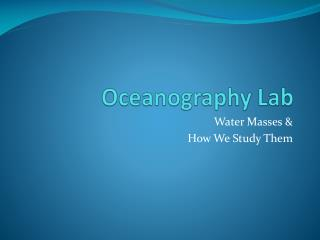 Oceanography Lab