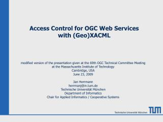 Access Control for OGC Web Services  with (Geo)XACML