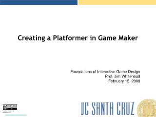 Creating a Platformer in Game Maker