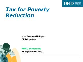 Tax for Poverty Reduction
